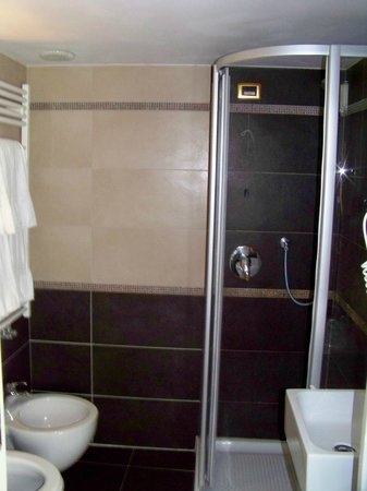 Hotel Torino: Banheiro com ducha farta e instalações reformadas e modernas