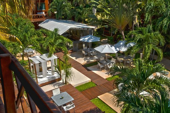 Magic Blue Hotel: Aerial View Pool Deck