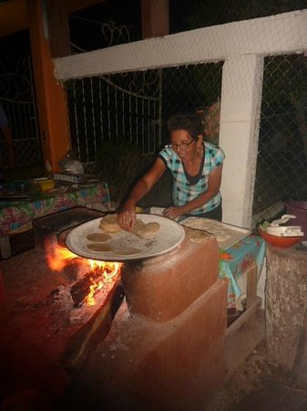 Casa del Encanto: Dona Emi making the worlds best  tacos 50 feet from my bedroom