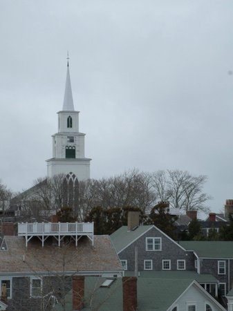 Whaling Museum: View of the First Congregational Church.