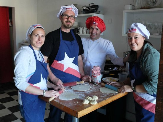 Chilean Cuisine Cooking Classes: Chef Boris and his trainees
