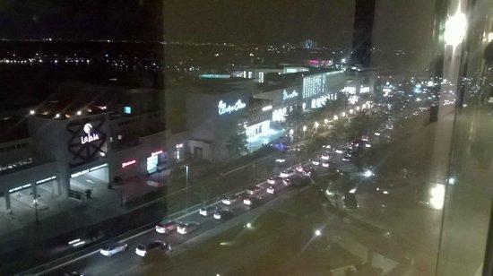 Live Aqua Beach Resort Cancun: Luxury shopping mall by night.