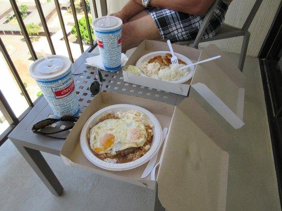 Hyatt Place Waikiki Beach: lunch with my fiance, Ed