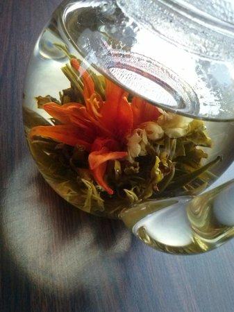 Flowering tea in Coffee Time, Birmingham