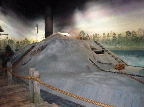 National Civil War Naval Museum: What the CSS Albemarle looked like.
