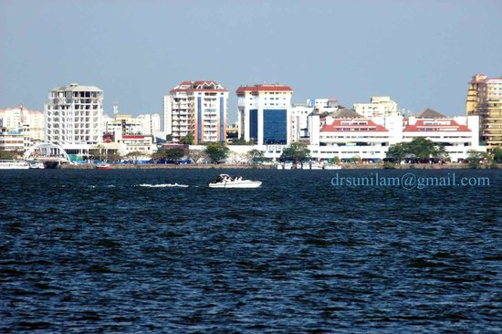Marine Drive, Cochin clicked from Vypeen island