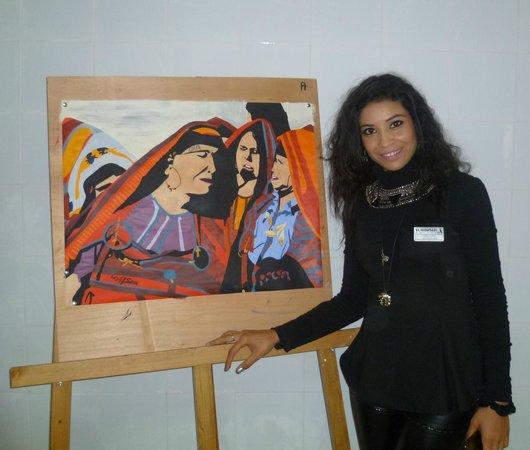 El Mouradi Club Kantaoui : Animazione: Corso di pittura con Miss Sana