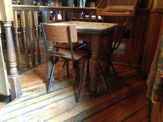 Groucho's Cafe Bar : Check out the up-cycled village hall chairs!