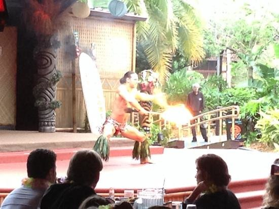 Disney's Spirit of Aloha Show: Fire dancer