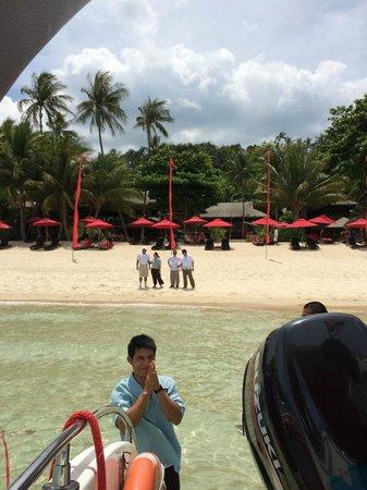 Buri Rasa Koh Phangan: Leaving the hotel by speedboat