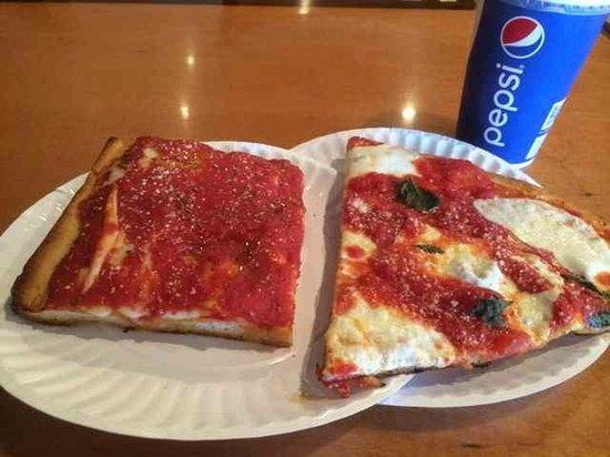 Nonna's Italian Restaurant : 1 Slice Granpa Pie, 1 slice Margherita & a Fruit Punch in a Pepsi cup