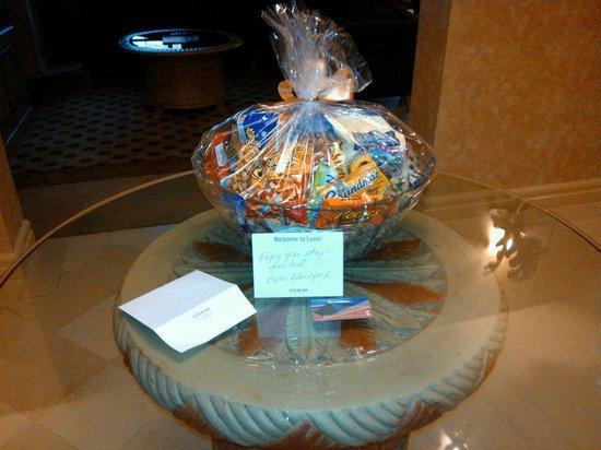 Luxor Las Vegas: welcome gift