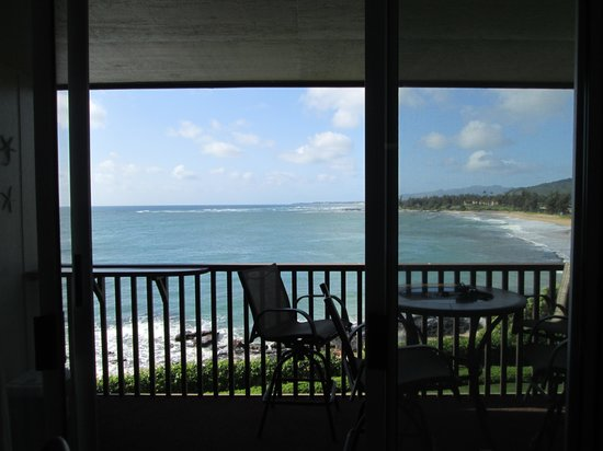 Wailua Bay View Condominiums: WBV #209, view from living room