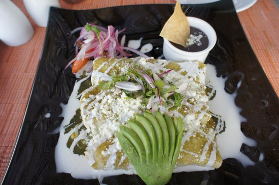 Grand Solmar Land's End Resort & Spa : Green Squash Blossom Enchilada from LaRoca at breakfast