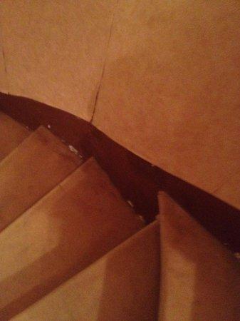 Chateau Bellevue : Escalier moquette pas top