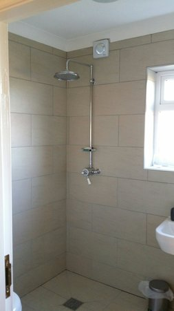 Deighton Lodge: Big big shower head.
