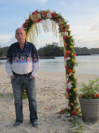 Palau Pacific Resort: Möjlighet att gifta sig fanns genom resorten.