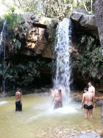 Sao Thome das Letras, MG: Cachoeira das borboletas Queda d'água na parte inferior.