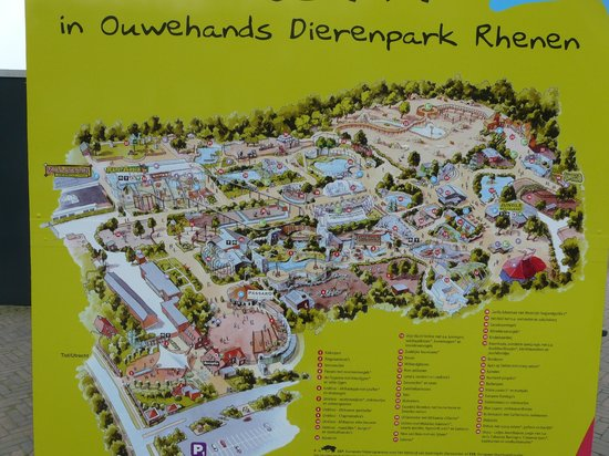 Ouwehands Dierenpark Rhenen: Map of the park