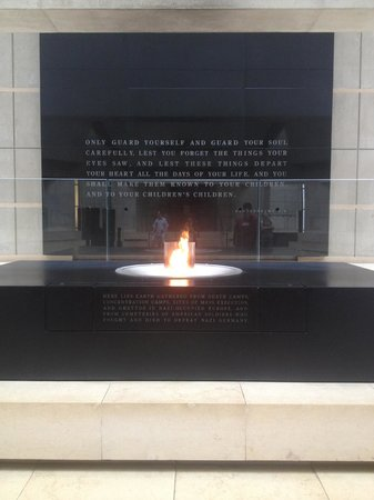 United States Holocaust Memorial Museum : Eternal fire in the Holocaust Museum