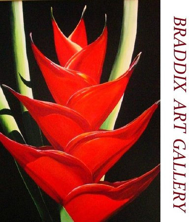 Rinkidink Ink Art Gallery: Red Heliconia