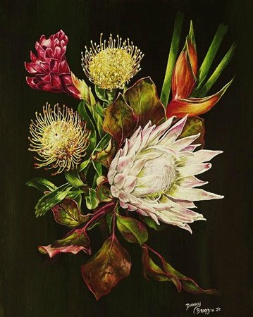 Rinkidink Ink Art Gallery: Protea flowers