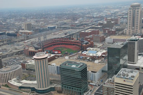 The Gateway Arch : View of Busch Stadium