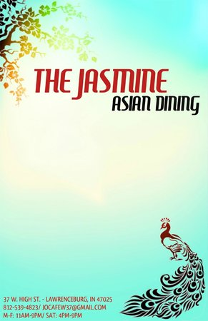The Jasmine: Menu Cover