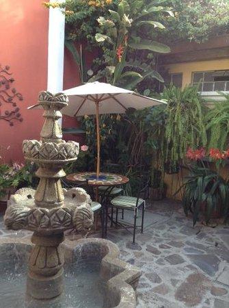 Hotel Casa Rustica: courtyard near the front desk