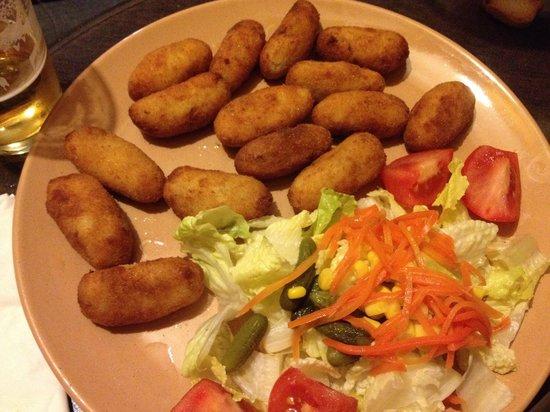 Taberna Quinito: ración de croquetas