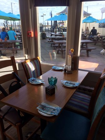 Dukes: Tables in restaurant and outside