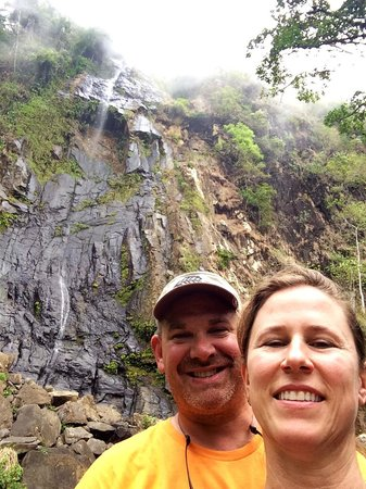 Diamante Verde Tours: Selfie after hiking up to falls