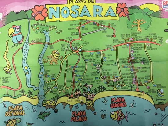 Living Hotel: Map of Nosara