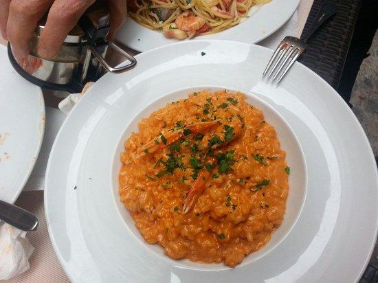 Pizza Roma: Risotto alla crema di scampi