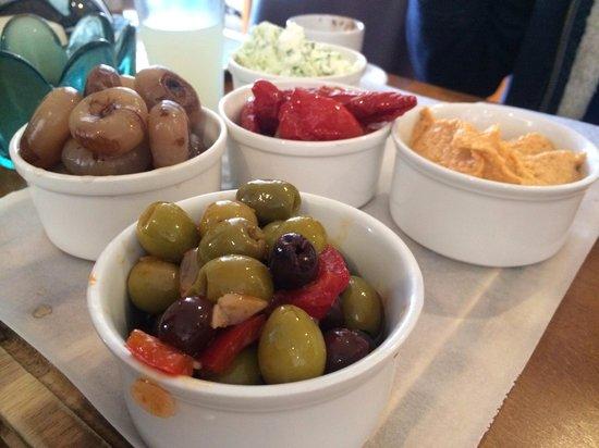 Dukes: Vegetarian platter to share