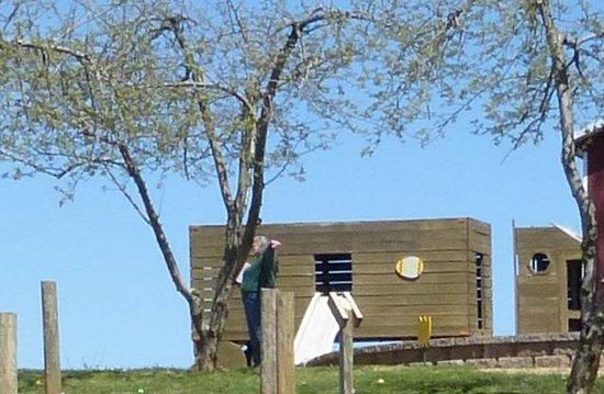 Milburn Orchards: Milburn Orchard Wooden Truck & Slide