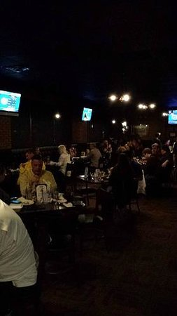 Chappys Tap Room and Grille: Main dining room loaded with beer- happy guests