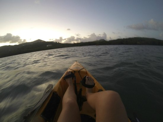 Virgin Kayak Tours: Foot powered kayaking - best invention ever!