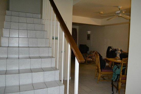 El Greco Resort: la scala per le camere al piano di sopra