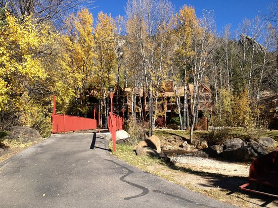 Streamside on Fall River: Bridge to my cabin
