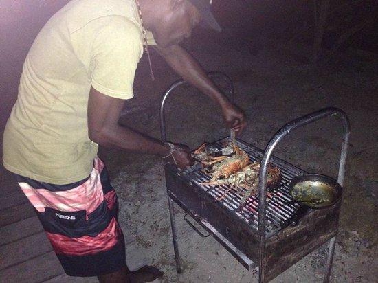 Coralina Island: Grilling fresh lobster