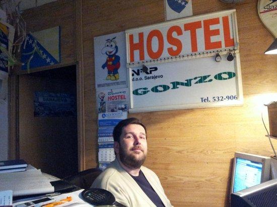 """Hostel Gonzo: reception at hostel """"Gonzo"""""""