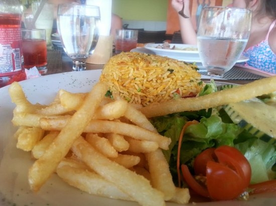 Sugar Beach Hotel: Food at their restaurant