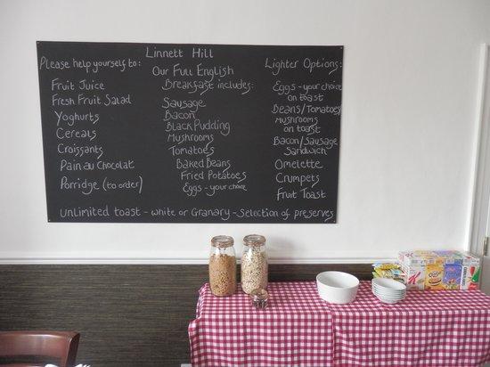 Linnett Hill: Breakfast room