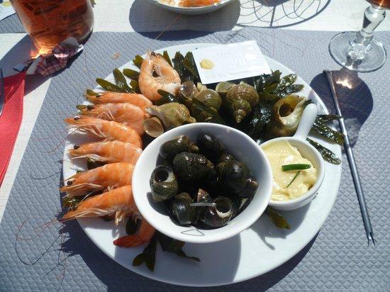 L'Escale en Arz : assiette de la mer