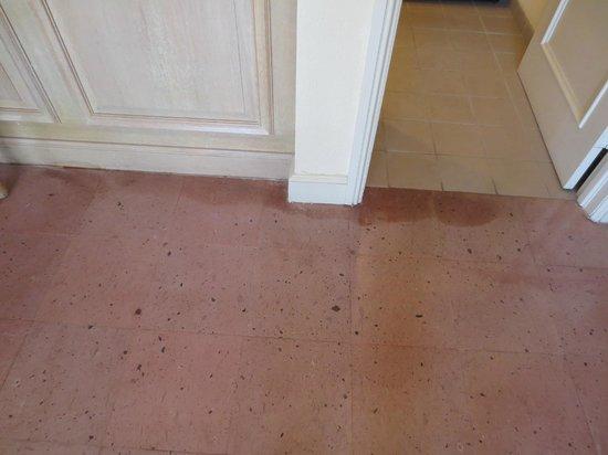 Hyatt Regency Coral Gables: asbestos vinyl tile floor damaged by water