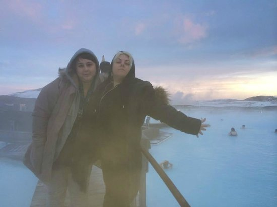 Blue Lagoon : why i don't trust other people to take my picture.  way to keep the lens clean.