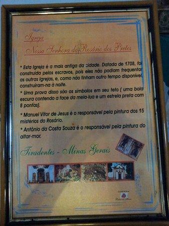 Our Lady of Rosario dos Pretos church : Resumo histórico