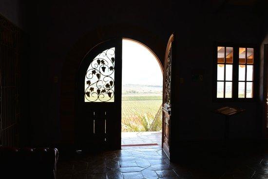 Vina Santa Cruz: Vista a partir da recepção