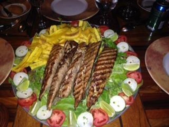 Morgan's Rock Hacienda and Ecolodge: The catch from the fishing trip, prepared for dinner.
